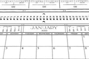 Spiral Bound Scull Craft Engagement Calendars